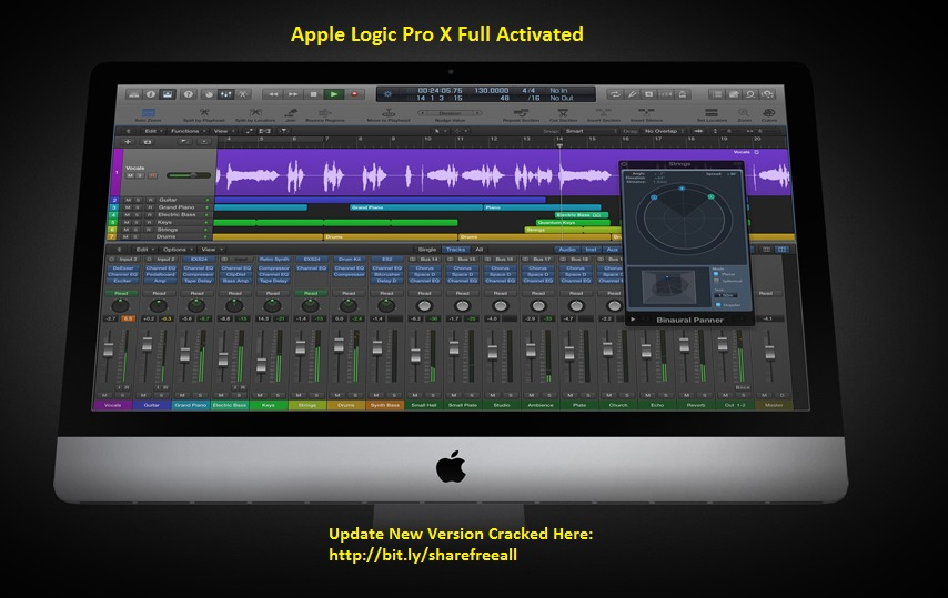 Apple Logic Pro X 10.2.0 Crack Keygen For Mac OS X