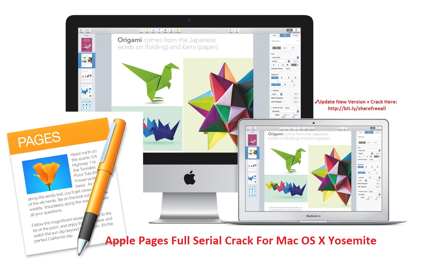 Apple Pages 2015 5.5.3 Serial Crack For Mac OS X