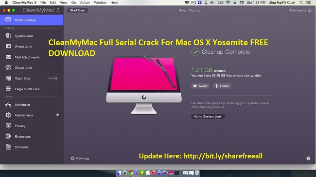 [Fixed] CleanMyMac 3.1.2 Crack Keygen For Mac OS X-OS X El Capitan 10.11