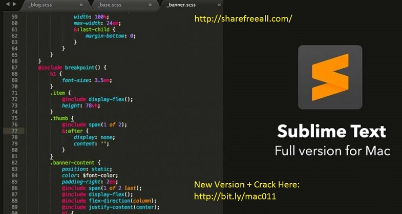 Sublime Text 3 Build 3095 Serial Crack For Mac OS X Free Download
