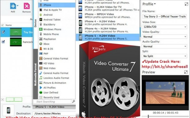 Xilisoft Video Converter Ultimate 7.8.14 Crack Serial Key For Mac OS X