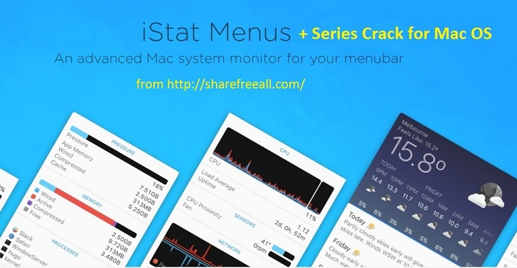 iStat Menus 5.11 b10 Crack Keygen For Mac OS X Free Download