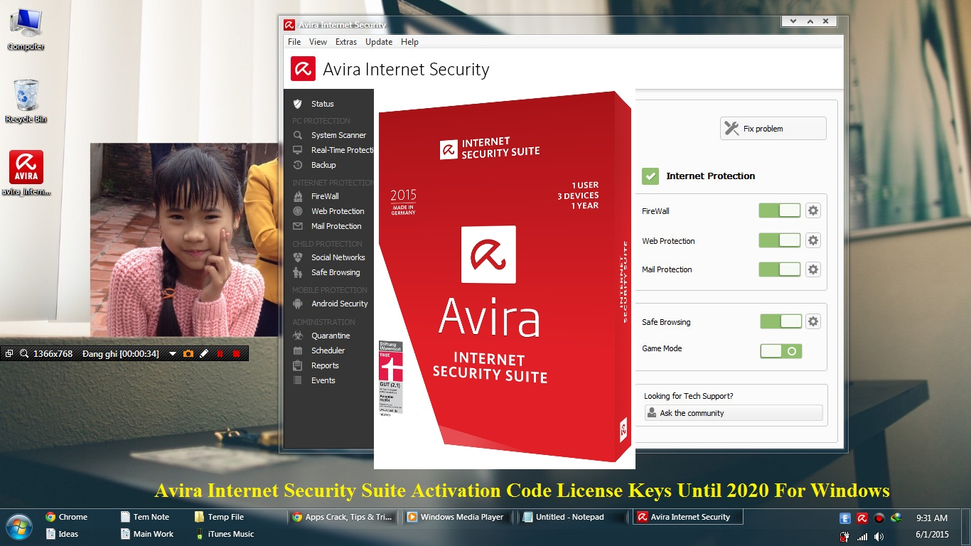 Avira Internet Security Suite 2015 Activation Code License