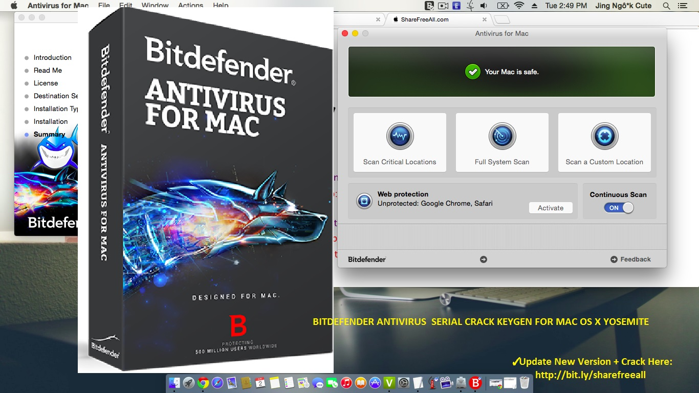 Bitdefender Antivirus 2016 v4.0.2 Crack For Mac OS X Free Download