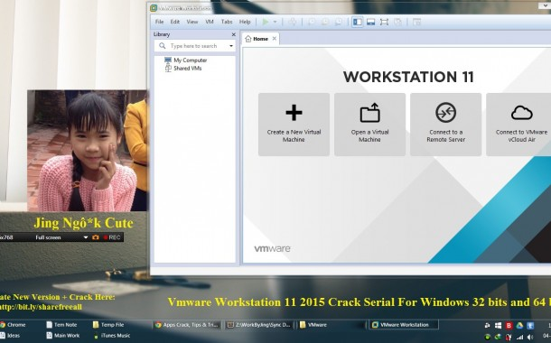 Vmware Workstation 11 2015 Crack Serial For Windows 32 bits and 64 bits