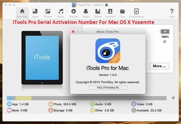 iTools Pro 2015 1.0.10 Serial Crack For Mac OS X