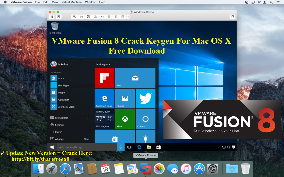 VMware Fusion Pro 8.1.1 Crack Keygen For Mac OS X Free Download