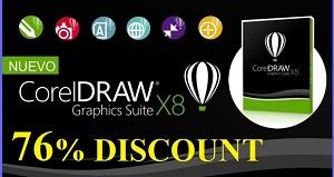 76% DISCOUNT CorelDRAW Graphics Suite X8 For Windows