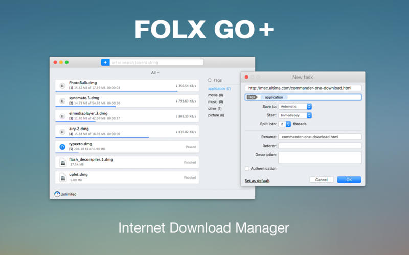 Folx GO + 5.4 Cracked Serial For Mac OS X Free Download