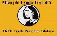 Miễn Phí Tài khoản Lynda.com Premium Lifetime Dùng Free Mãi Mãi