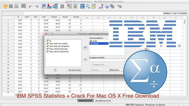 IBM SPSS Statistics 25.0 Serial For Mac OS X Free Download