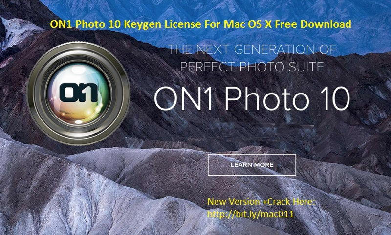 ON1 Photo 10.5.0 Crack Serial For Mac OS X Free Download