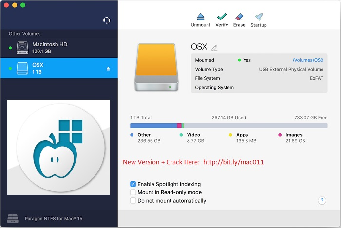 Paragon NTFS 15.5 Crack Serial For Mac OS X Free Download