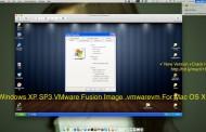 Windows XP SP3 VMware Fusion Image .vmwarevm For Mac OS X