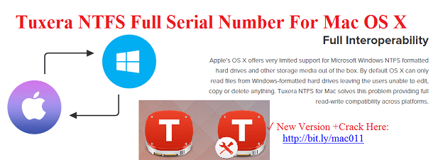 Tuxera NTFS 2021 Serial Number Crack For Mac OS X Free Download